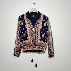 Angie Lightweight Zip-Up Boho Jacket / S
